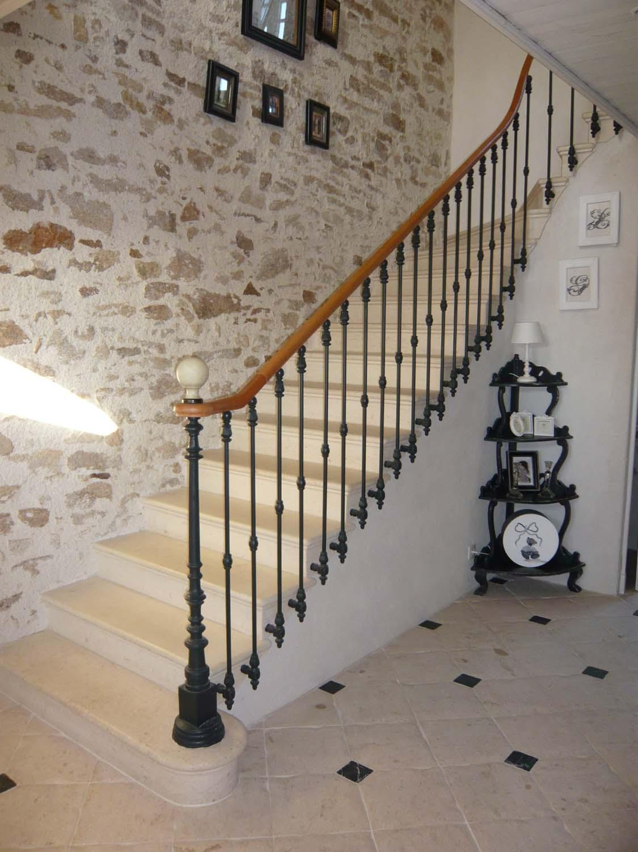 Escalier Pierre DE BORREZE St Fiacre 44 - BRETHOME SARL Lucs sur Boulogne Vendée